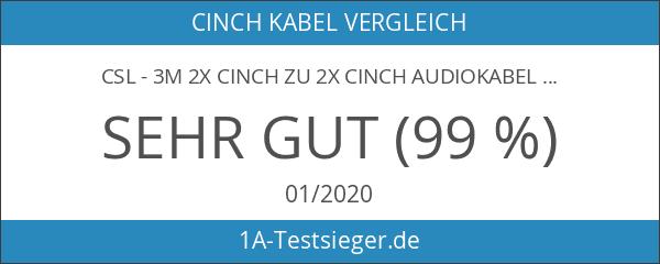 CSL - 3m 2X Cinch zu 2X Cinch Audiokabel