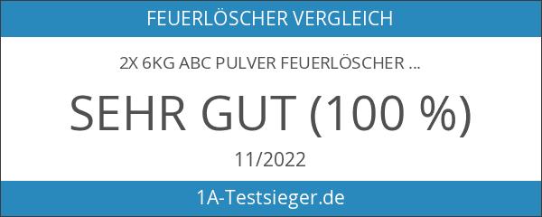 2X 6kg ABC Pulver Feuerlöscher