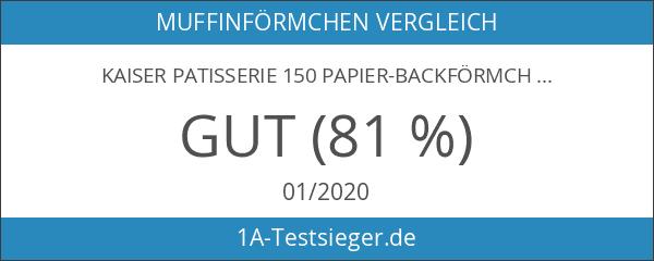 KAISER Patisserie 150 Papier-Backförmchen 7 cm farbig sortiert