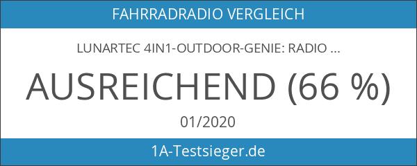 Lunartec 4in1-Outdoor-Genie: Radio