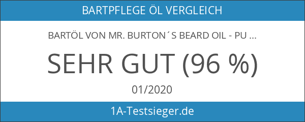 Bartöl von Mr. Burton´s Beard Oil - PURE - duftneutral