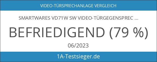 Smartwares Video-Türgegensprechanlage mit flachem Touchscreen-Panel