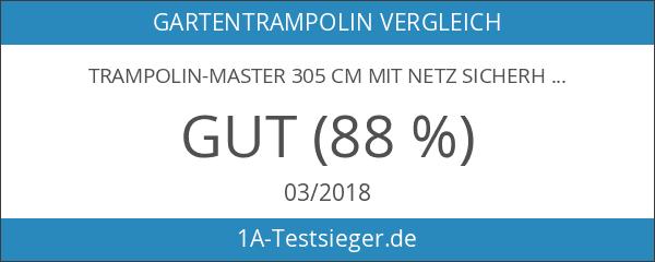 Trampolin-Master 305 cm mit Netz Sicherheitsnetz Gartentrampolin für Kinder 10ft
