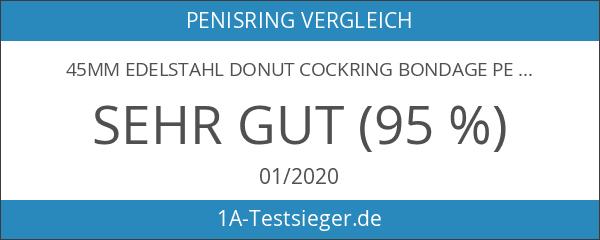 45mm Edelstahl Donut Cockring Bondage Penisring Cock Ring Stahl Metall