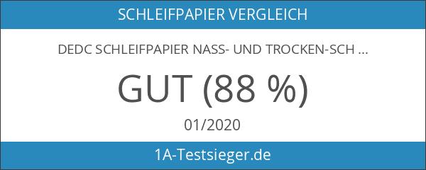 DEDC Schleifpapier Nass- und Trocken-Schleifpapier Schleifstreifen 36er-Pckg