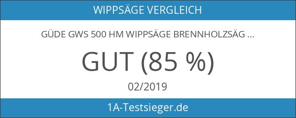 GÜDE GWS 500 HM Wippsäge Brennholzsäge 01817 inkl. Hartmetallsägeblatt NEU