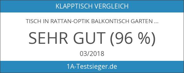 Nexos Tisch in Rattan-Optik Balkontisch Gartentisch Klapptisch schwarz 61 x