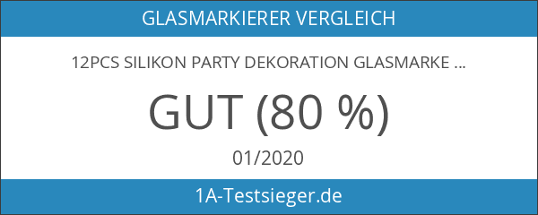 12pcs Silikon Party Dekoration Glasmarker Markierung Glasmarkierer Glasmarkierungen