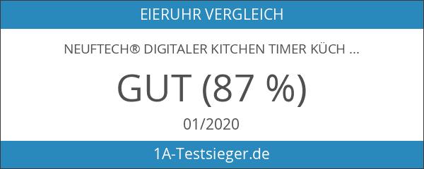 Neuftech® digitaler Kitchen Timer Küchentimer Küchenwecker Kurzzeitmesser mit Magnet und