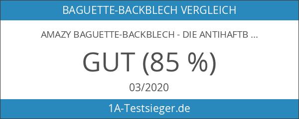 Amazy Baguette-Backblech - Die antihaftbeschichtete Back-Form zur Herstellung von Baguette