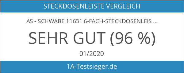 as - Schwabe 11631 6-fach-Steckdosenleiste weiß 3m H05VV-F 3G1