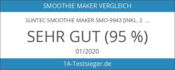 SUNTEC Smoothie Maker SMO-9943 [Inkl. 2 Sportflaschen à 600 ml