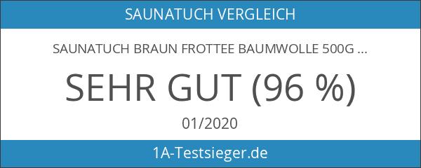 Saunatuch Braun Frottee Baumwolle 500g