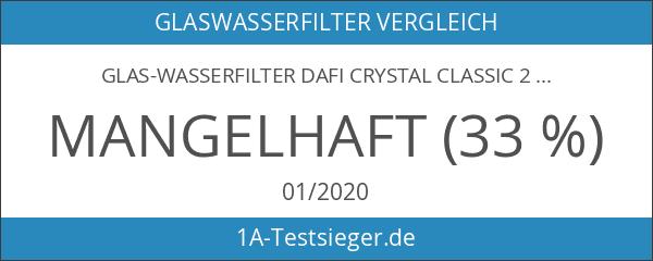 Glas-Wasserfilter Dafi Crystal Classic 2.0L inklusive 1 Filterkartusche - Aquamarin
