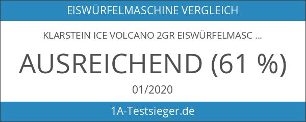 Klarstein Ice Volcano 2GR Eiswürfelmaschine Gastro Eiswürfelspender für 2 verschiedene