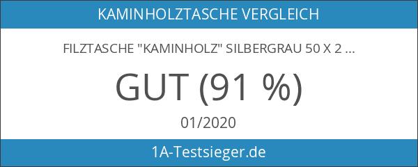 """Filztasche """"Kaminholz"""" silbergrau 50 x 25 cm - Kaminholztasche Zeitungsständer"""
