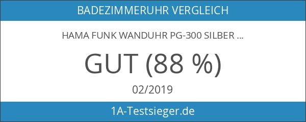 Hama Funk Wanduhr PG-300 silber