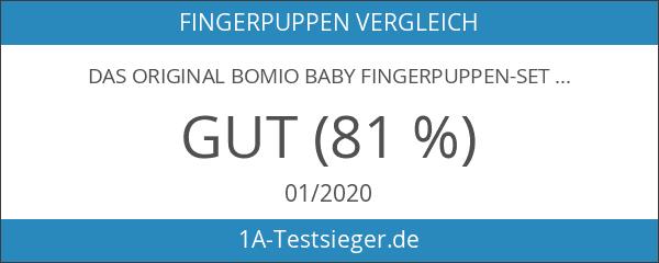 DAS ORIGINAL Bomio Baby Fingerpuppen-Set im 2er Set - 2x