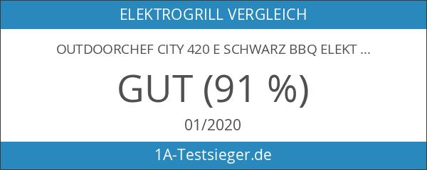 Outdoorchef CITY 420 E schwarz BBQ Elektrogrill Kugelgrill 18.130.10