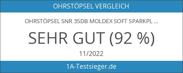 Ohrstöpsel SNR 35dB Moldex Soft SparkPlugs 7800 - 25 Paar