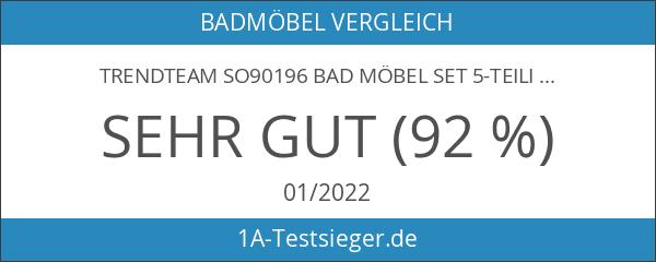 trendteam SO90196 Bad Möbel Set 5-teilig weiß hochglanz