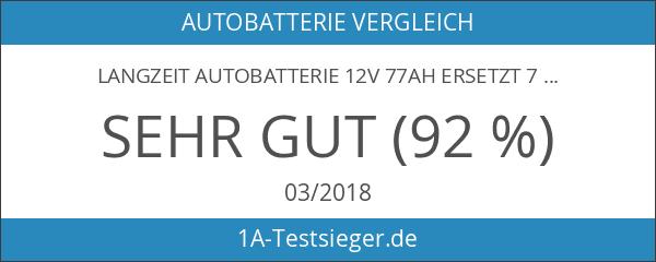 LANGZEIT Autobatterie 12V 77Ah ersetzt 70AH 72AH 74AH 75AH 77AH