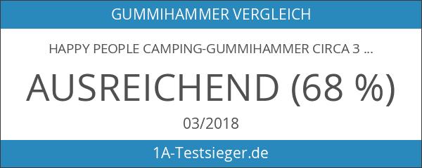 Happy People Camping-Gummihammer circa 32 cm mit Holzgriff und Heringauszieher
