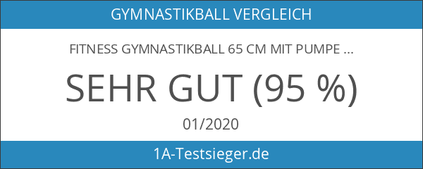 Fitness Gymnastikball 65 cm mit Pumpe