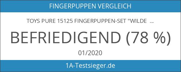"Toys Pure 15125 Fingerpuppen-Set ""Wilde Tiere"" 8er Set"