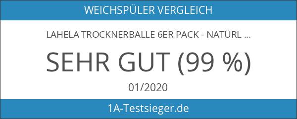LAHELA Trocknerbälle 6er Pack - natürliche Alternative für Weichspüler. Premium