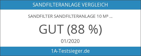Sandfilter Sandfilteranlage 10 m³