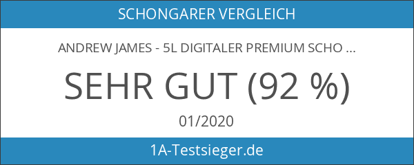 Andrew James - 5L Digitaler Premium Schongarer In Rot -