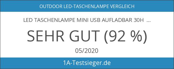 LED Taschenlampe Mini USB Aufladbar 30H Betriebzeit Ultrahell 800Lumens Leuchtweite
