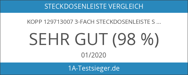 Kopp 129713007 3-fach Steckdosenleiste Standard