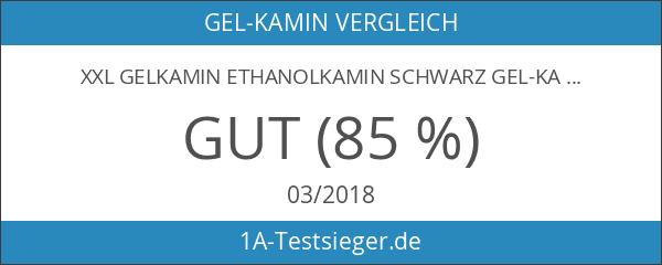 XXL Gelkamin Ethanolkamin Schwarz Gel-Kamin Wandkamin Brenngel Metallkamin