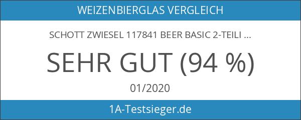 Schott Zwiesel 117841 Beer Basic 2-teiliges Weizenbierglas Set