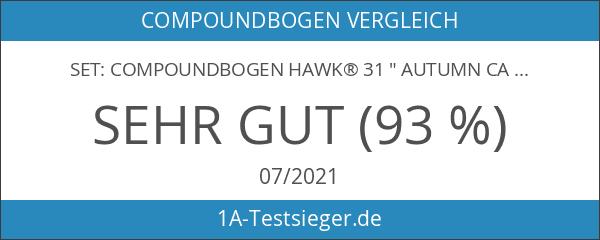 """SET: Compoundbogen Hawk® 31 """" Autumn Camo 20 lbs Cable"""