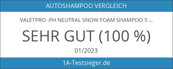 ValetPRO -PH Neutral Snow Foam Shampoo 5 Liter