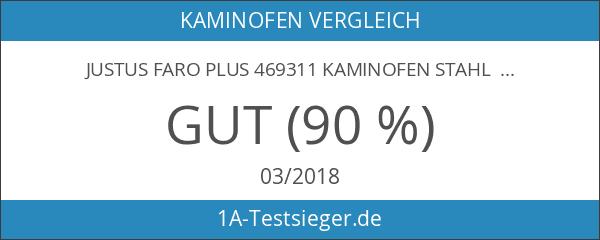 Justus Faro Plus 469311 Kaminofen Stahl Schwarz Abdeckplatte Speckstein Grau