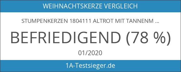 Stumpenkerzen 1804111 altrot mit Tannenmotiv HxØ 120x60mm