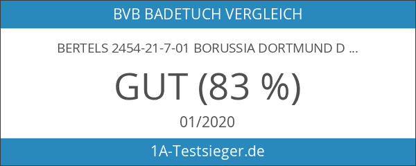 Bertels 2454-21-7-01 Borussia Dortmund Duschtuch Punkteverlauf