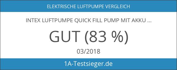 Intex Luftpumpe Quick Fill Pump mit Akku