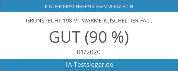 Grünspecht 198-V1 Wärme-Kuscheltier für Kinder