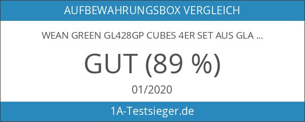 Wean Green GL428GP Cubes 4er set aus Glas - Garden