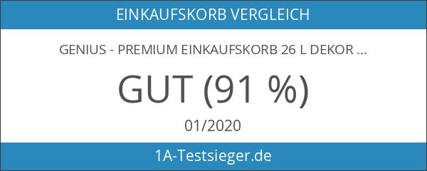 """Genius - Premium Einkaufskorb 26 l Dekor """"Punkte"""" 14260"""