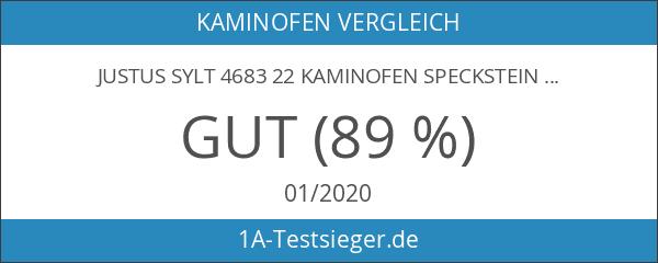 Justus Sylt 4683 22 Kaminofen Speckstein Korpus Schwarz