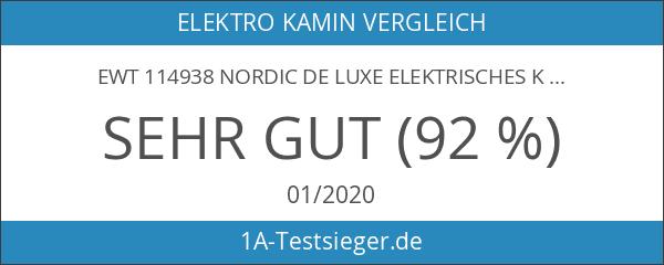 EWT 114938 Nordic de Luxe Elektrisches Kaminfeuer mit Fernbedienung