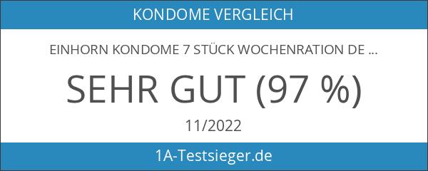 einhorn Kondome 7 Stück Wochenration Design Edition: UUUH! PENISGEGENSTÄNDE -