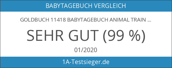 Goldbuch 11418 Babytagebuch Animal Train Baby Boy