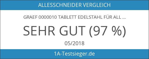 Graef 0000010 Tablett Edelstahl für Allesschneider
